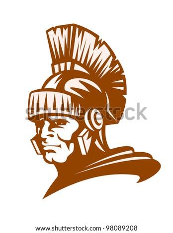 Medieval rome warrior for mascot design. Vector illustration - stock vector