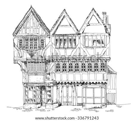 Tudor Facade tudor house stock images, royalty-free images & vectors | shutterstock