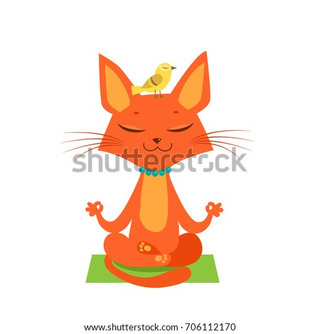 yoga pose cartoon stock images royaltyfree images