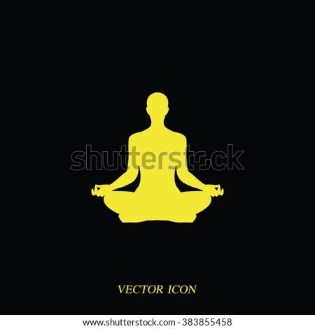 Meditation icon. - stock vector