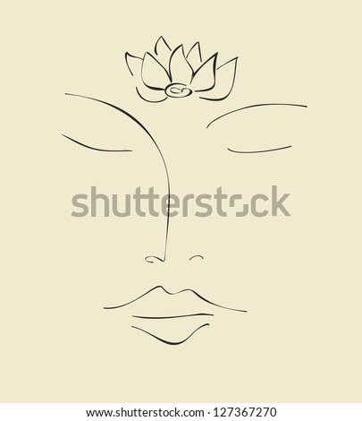 Meditation - Lotus - Buddha - stock vector