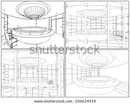 Meeting Conference Room Vector 06 - stock vector