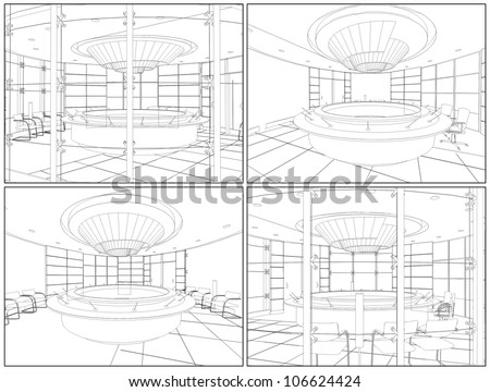 Meeting Conference Room Vector 07 - stock vector