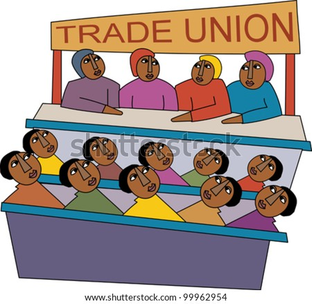 Meeting of trade union members - stock vector