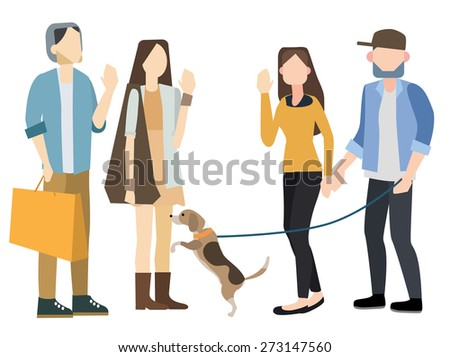 meeting people vector illustration isolate on white background. - stock vector
