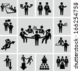 Meeting vector icons  - stock vector