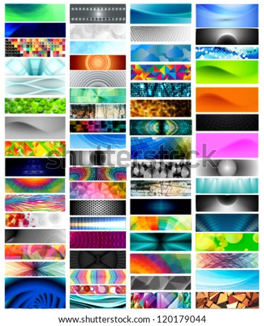 mega banner set, vector designs (66 pieces) - stock vector