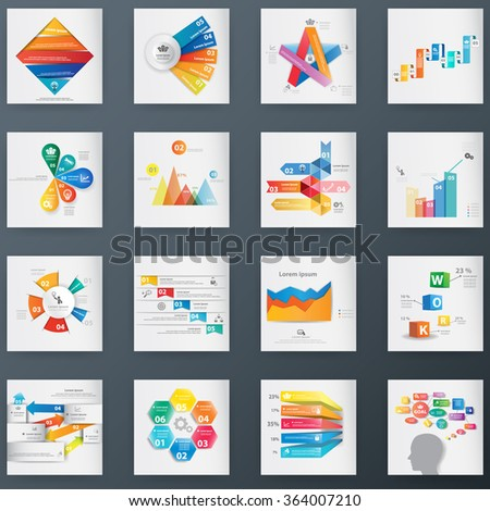 Mega Collections Business Step Style Options Banner - stock vector