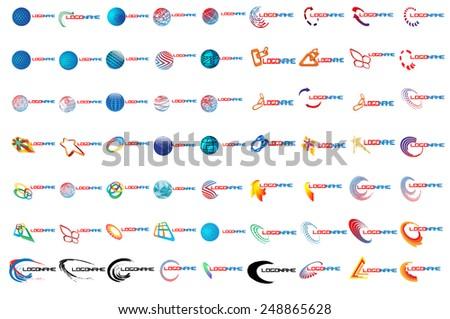 Mega Logo Set . Vector Logo Design Template.  Vector Design Elements  - stock vector