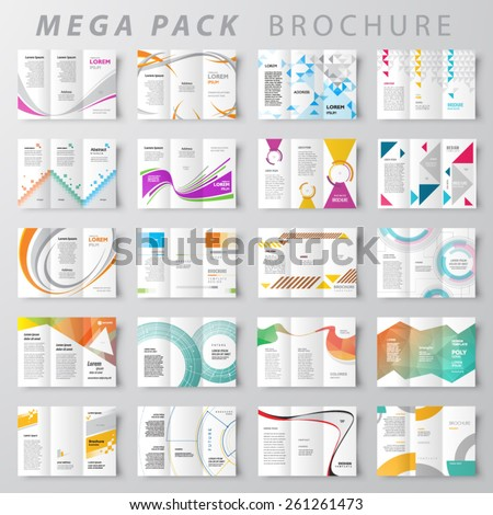Mega pack Brochure design template set