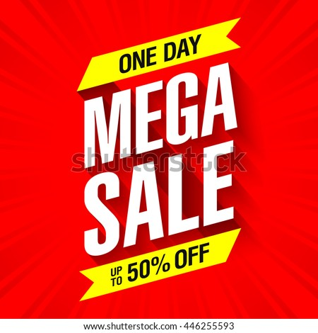Mega Sale banner design template