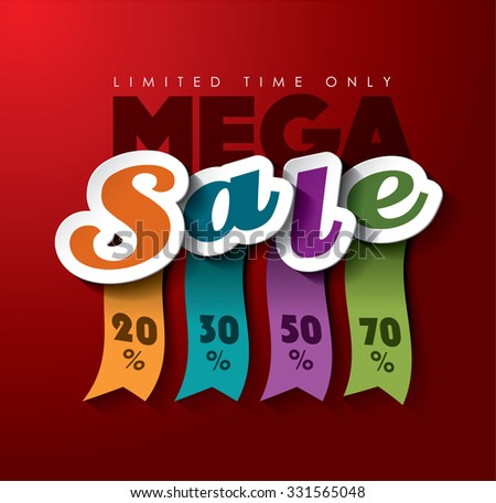 Mega Sale Vector design