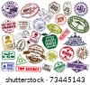 Mega Set Of Stamp - stock vector