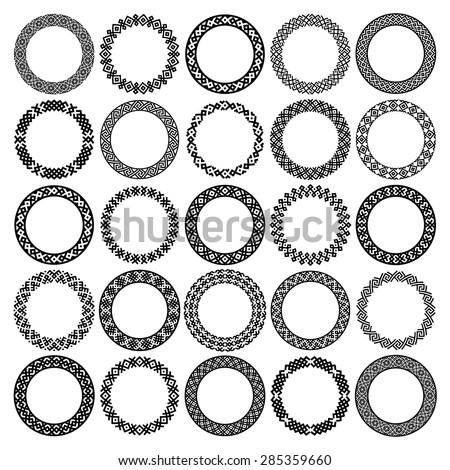 Mega Set 25 Most Popular Round Vector de stock285359660: Shutterstock