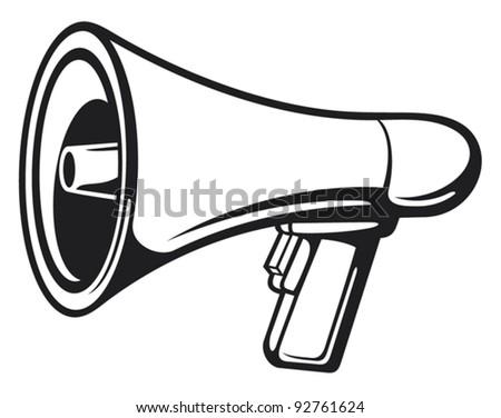 Megaphone (Bullhorn) - stock vector