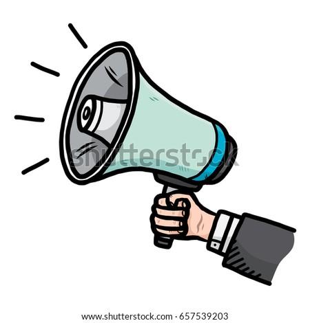 megaphone cartoon vector illustration hand drawn stock photo photo rh shutterstock com megaphone cartoon gif megaphone cartoon picture