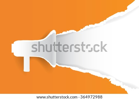 Megaphone Chat Banner Copy Space Loudspeaker Vector Illustration - stock vector