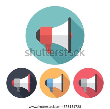megaphone flat icon - stock vector