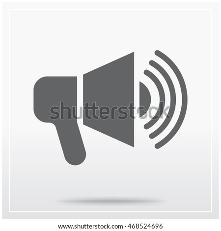 Megaphone Flat Icon Graphical Symbol Translation Stock Vector HD ...