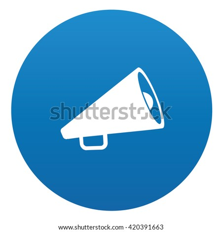 Megaphone icon design on blue background,vector