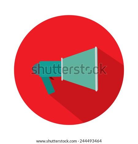 megaphone icon, loudspeaker isolated symbol  - stock vector