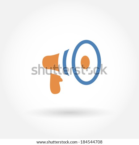 Megaphone icon. Modern line icon design. Modern icons for mobile or web interface. Vector illustration.  - stock vector