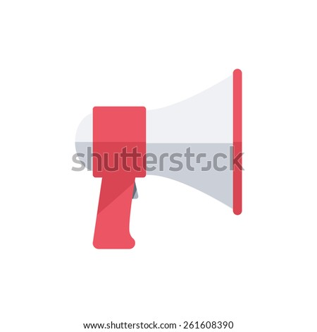 Megaphone. Isolated icon pictogram. Eps 10 vector illustration.