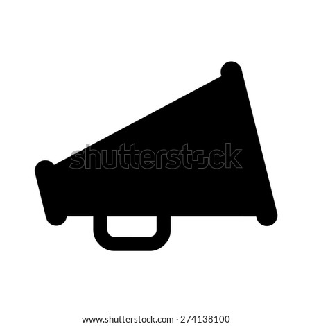 Megaphone loudspeaker flat icon for apps and websites - stock vector