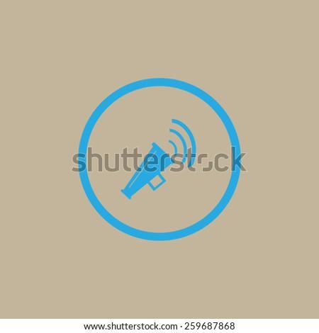 Megaphone, loudspeaker icon. - stock vector