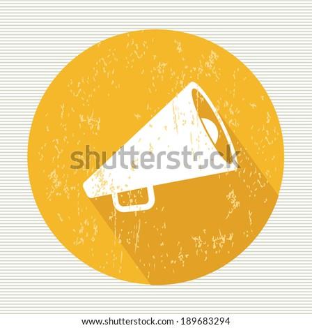 Megaphone symbol,vector - stock vector