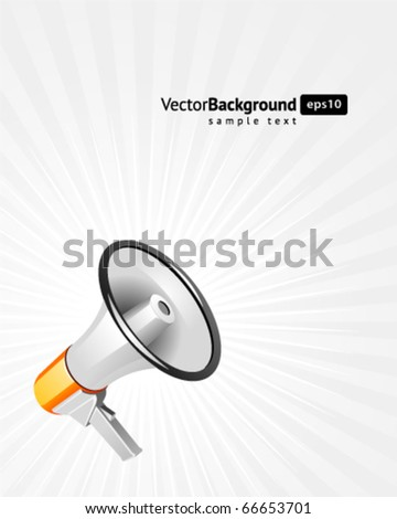Megaphone vector background. Eps 10