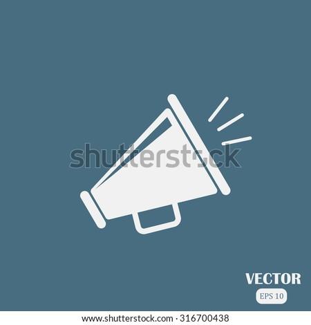 megaphone vector icon - stock vector