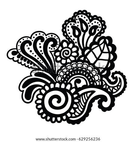 Mehndi Design Floral Pattern Coloring Book