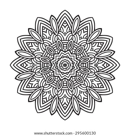 Mehndi, Indian Henna tattoo pattern or background - stock vector
