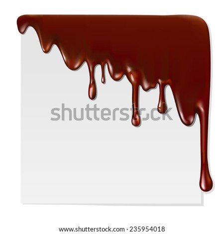 Melted chocolate Mesh. Clipping Mask. - stock vector