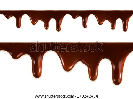 Melted chocolate seamless vector - stock vector