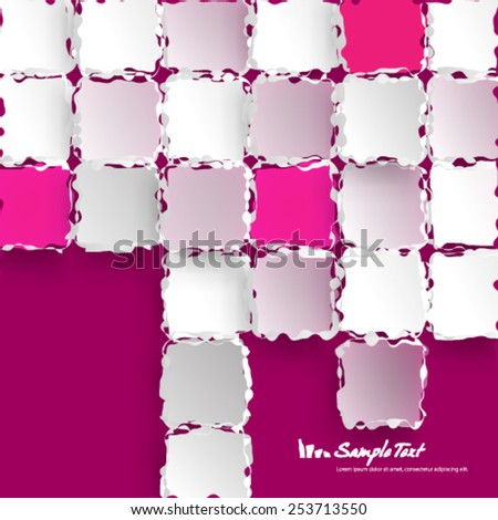 Melting Edges Digital Squares Modern Background - stock vector