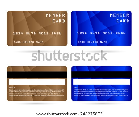 Member Card Business VIP Card Design Stock Vector 746275873 ...