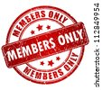 Members only vector stamp - stock vector