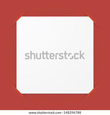 memo papers on red color board. vector.