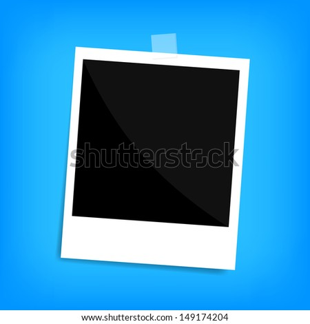 memo polaroid photo on wall isolated - stock vector