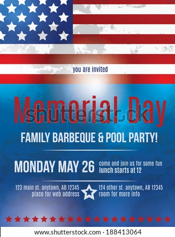 memorial day email invitations