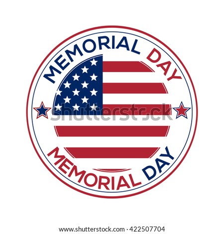 Memorial Day design over white background. Vector illustration