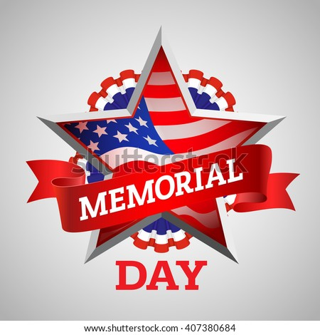 Memorial Day greeting card. Memorial Day illustration. Memorial Day vector. Memorial Day art. Memorial Day graphic. Memorial Day drawing. Memorial Day text. Memorial Day type. Memorial Day design - stock vector