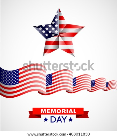 Memorial day poster. Illustration Patriotic United States of America for Memorial day, USA, Memorial day vector illustration Memorial day poster. Patriotic United States of America for Memorial day, - stock vector