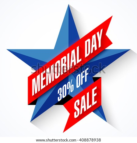 Memorial Day Sale banner vector illustration - stock vector