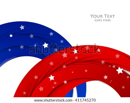 Memorial Day vector background. Holiday colorful design. Eps10
