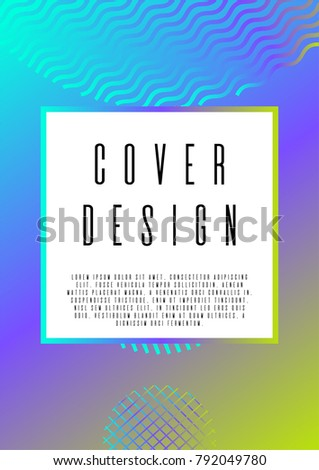 Memphis Coverage Corporate Style Text Frame Stock Vector 792049780 ...