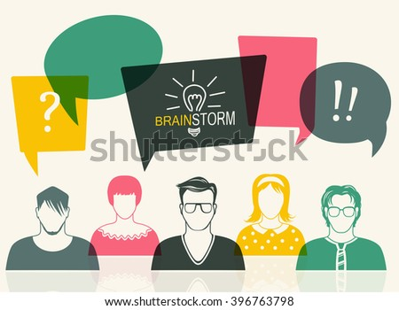 Men and women avatar profile picture set. Businessman, coworkers, think, question. User icon. People vector illustration - stock vector