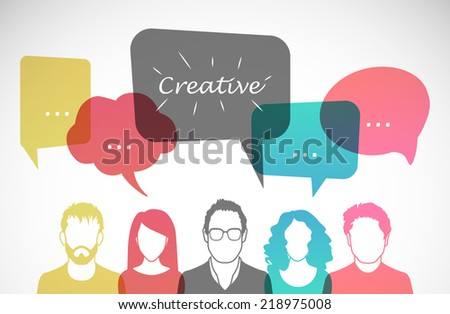 Men and women avatar profile picture set. Vector illustration. Businessmen, coworkers, think, question. - stock vector